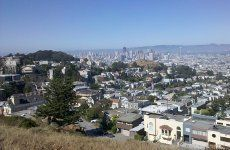 Nice view on the city from the Clarendon Heights near the Sutro Tower